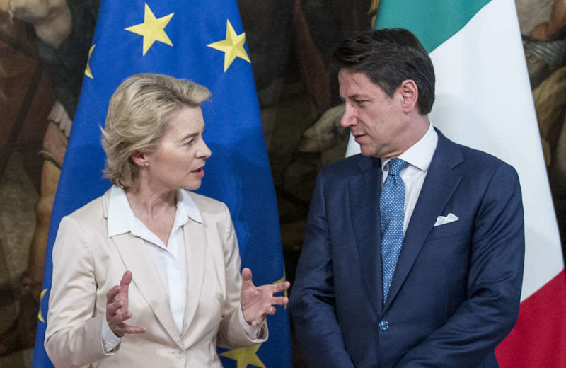 Conte-von der Leyen bilateral meeting for Italy's commissioner