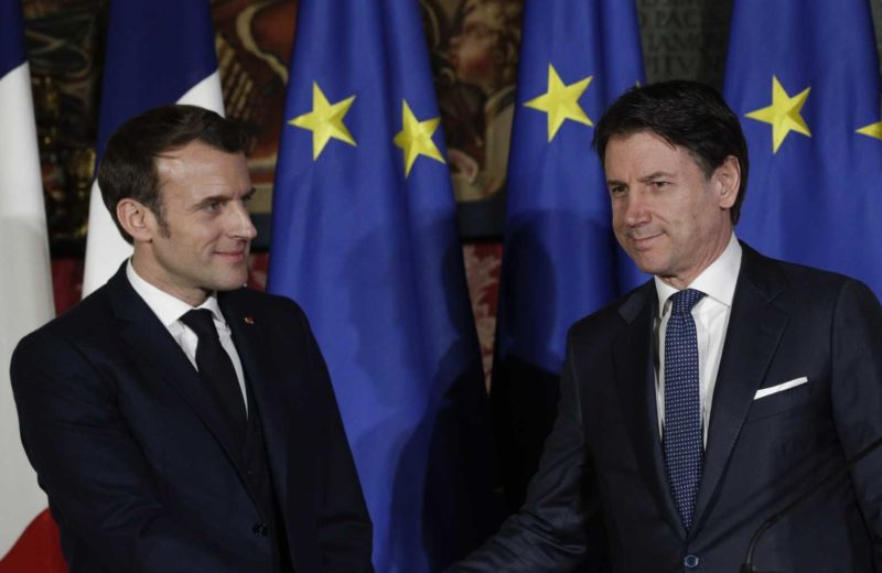 Italy and France sign the pact of Naples